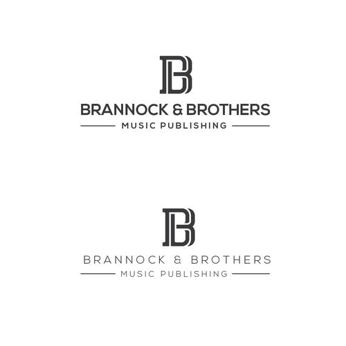 luxurious logo for Brannock & Brothers music publishing website