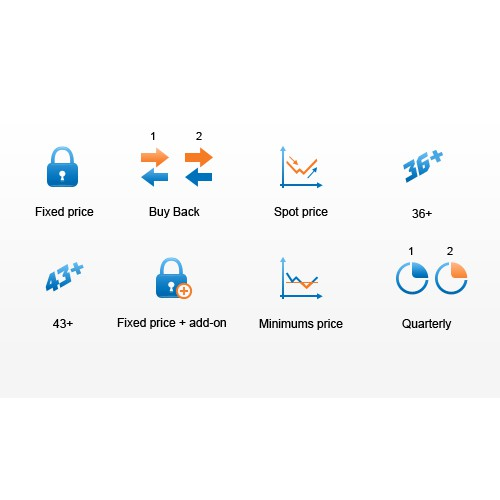 Financial product icons and design
