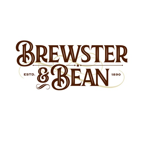 Brewster and Bean Coffee Shop Logo
