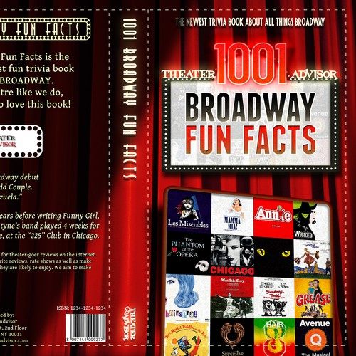 "Cover for a book ""1001 Broadway Fun Facts"""