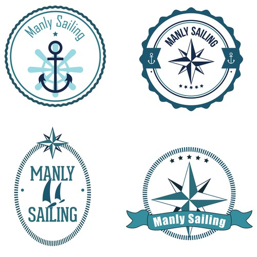 12 Logo concepts for sailing business