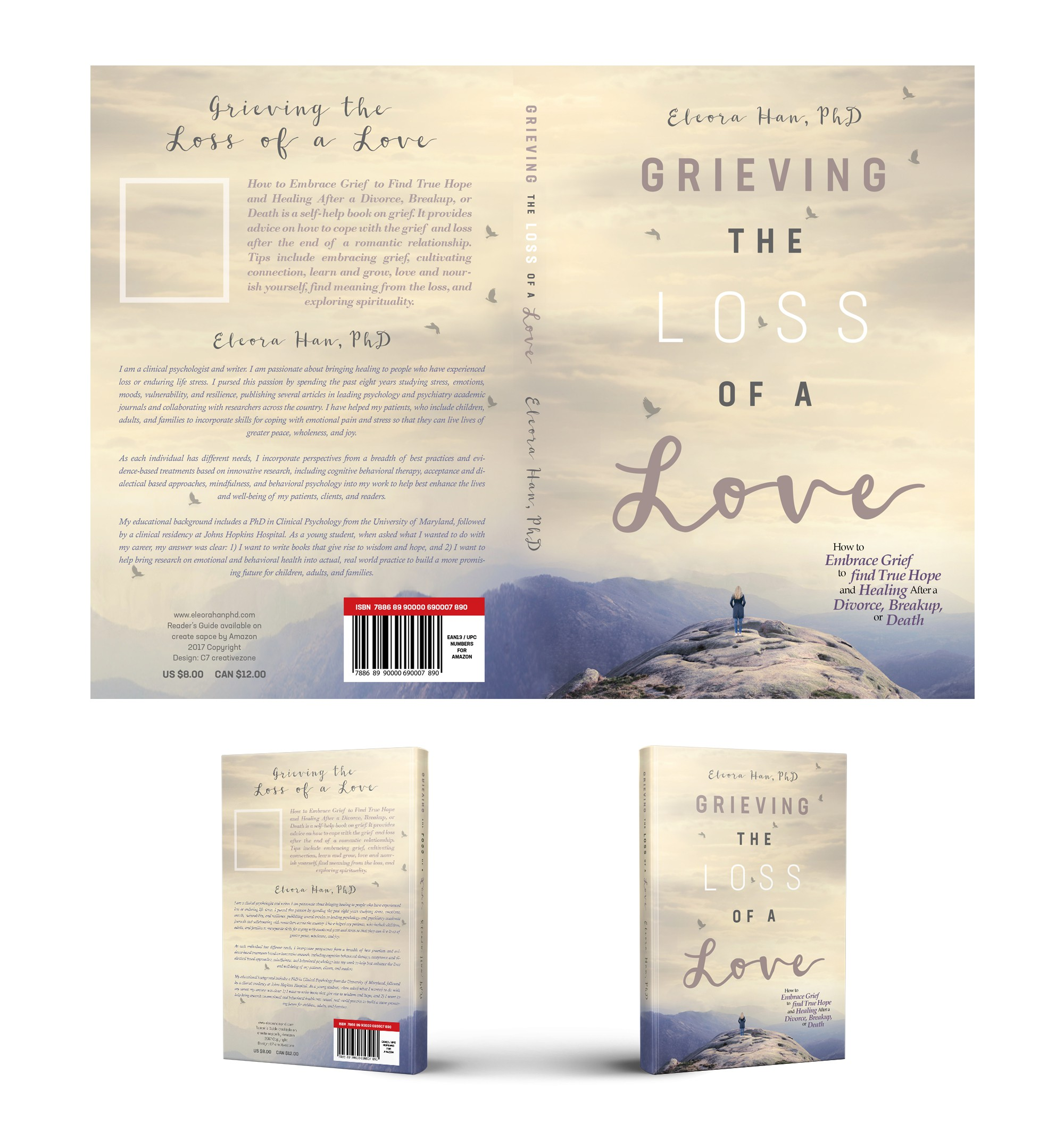 Create a Cover for a Book on Healing from Grief After Love and Loss