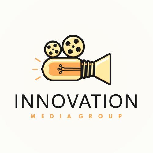 Logo for innovation media group.