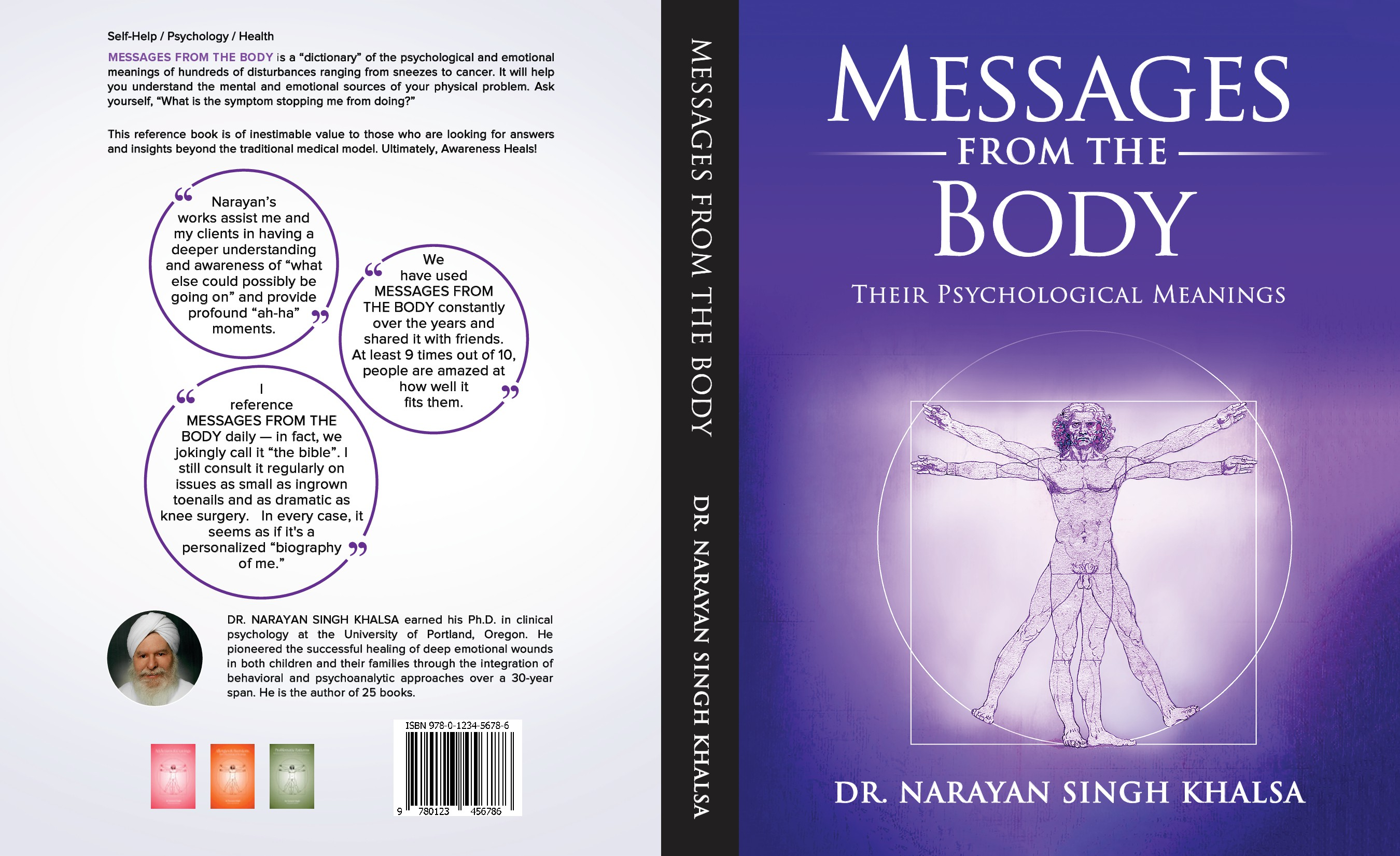 Redesign book cover for Messages From The Body, the psychological meanings of every illness.