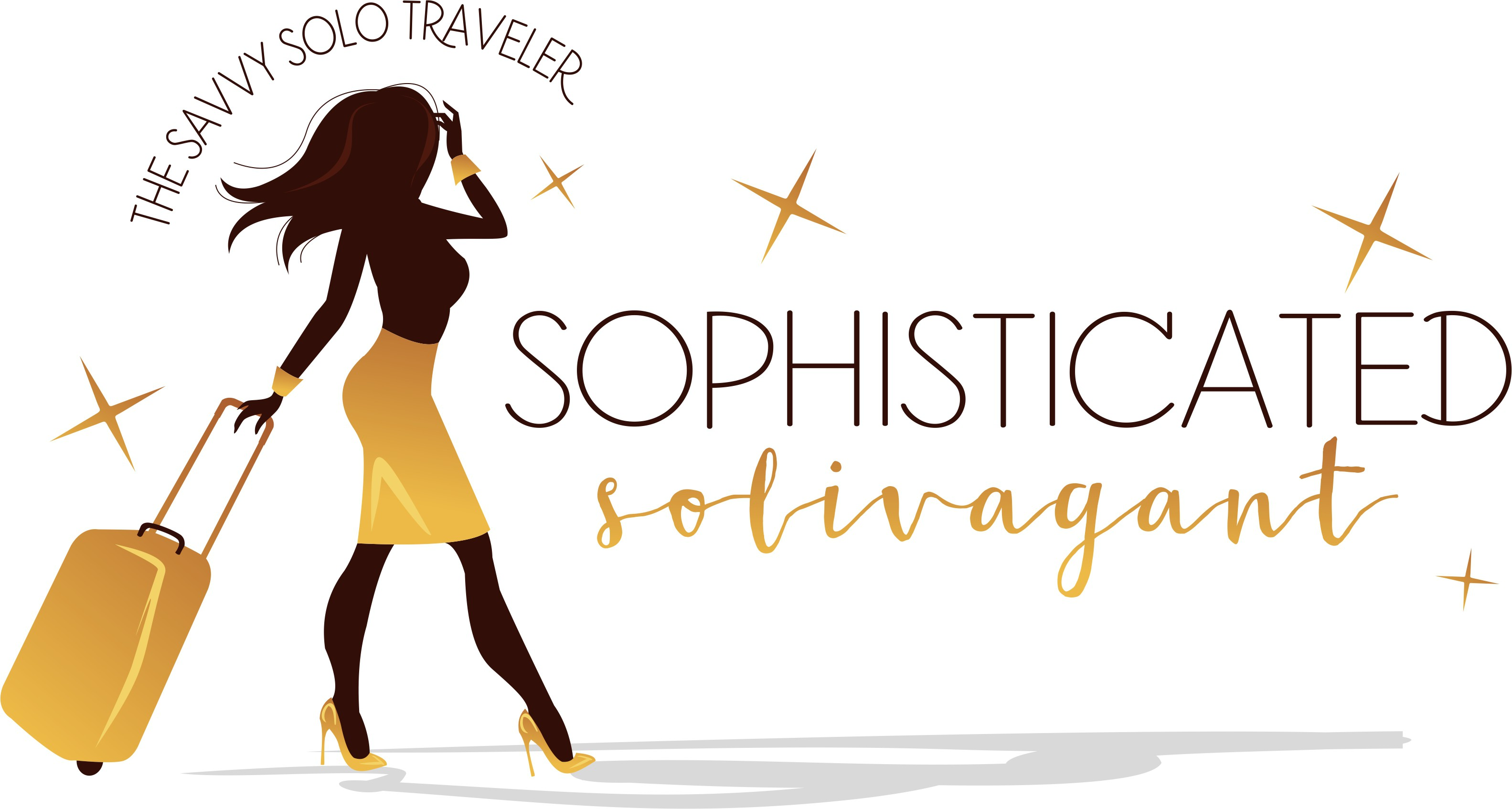 Create a logo for Sophisticated Solivagant Travel Blog