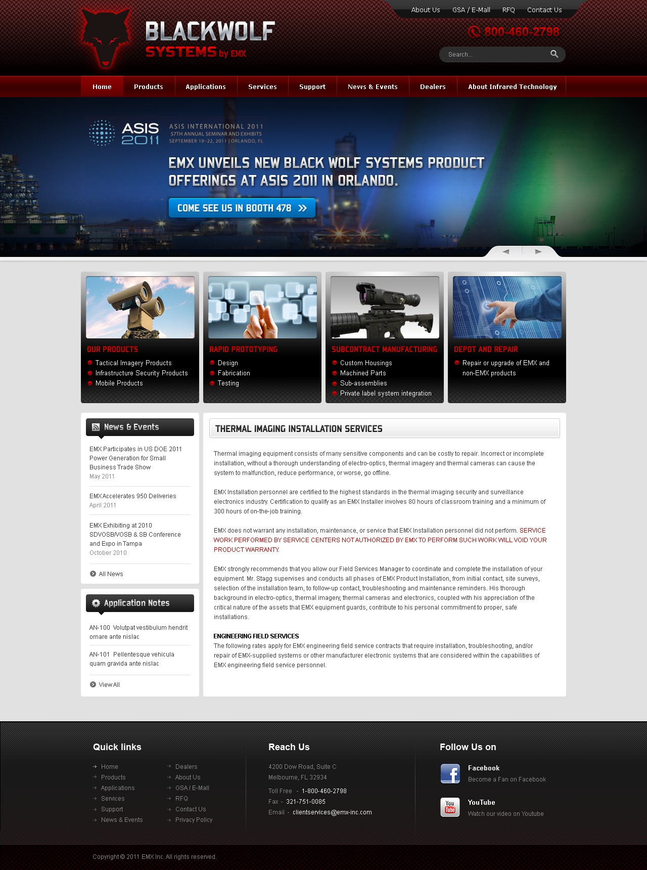 New website design wanted for Black Wolf Systems by EMX (WWW.EMX-INC.COM)