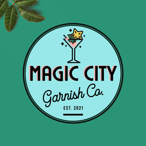 Magic City Garnish Co. Logo Design