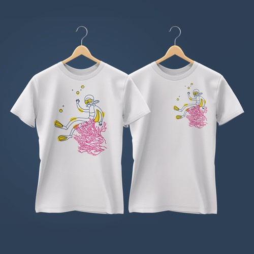 T-shirt with coral reef of Honduras