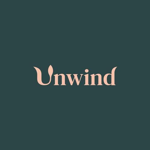 Unwind Minimalist Organic Logo Design