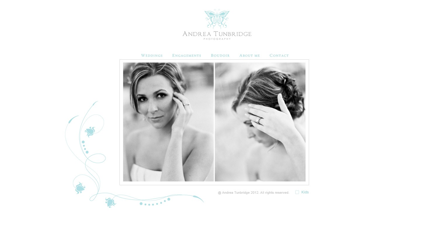 New webpage design for Photographer