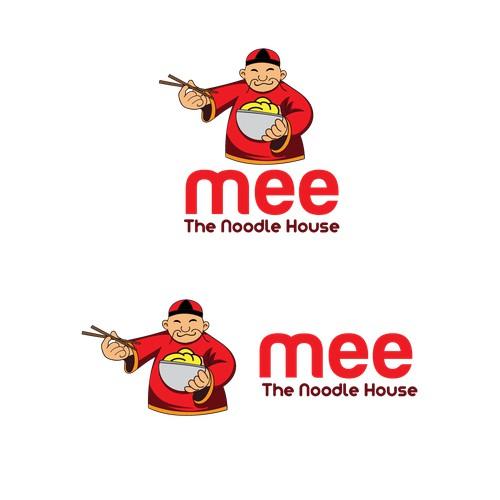 mascot logo for noodle restaurant