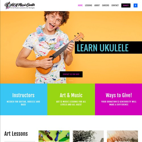 Website Design for NonProfit Art & Music Center