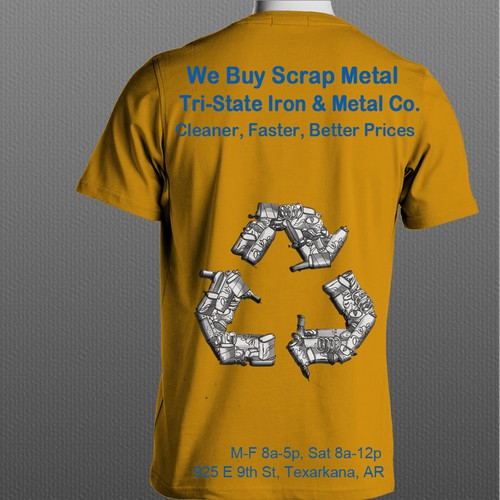 NEEDED Cool T-Shirt For Recycling Company