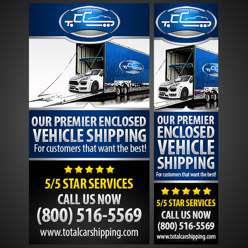 Total Car Shipping Banner Advertisement