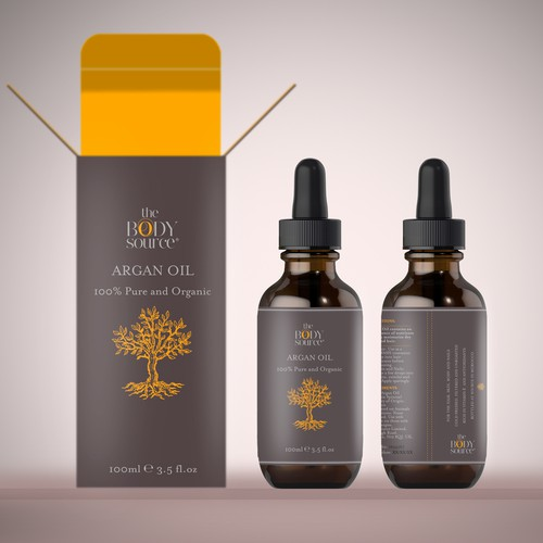 CLEAN and MINIMAL Label for a LUXURIOUS Cosmetics Bottle.