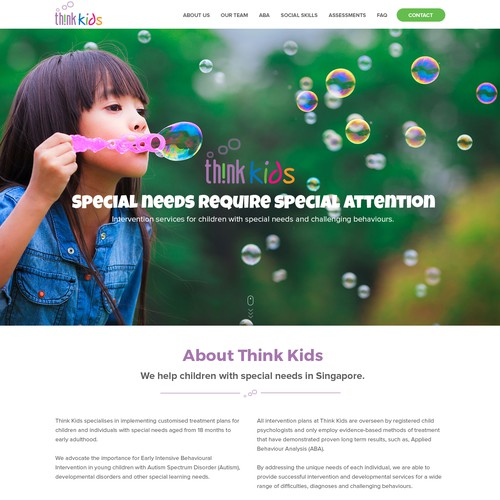 Re-Design Child Psychologist Website