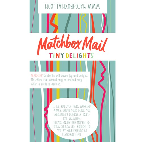 Create Happiness! Design a vintage modern illustrated label for Matchbox Mail