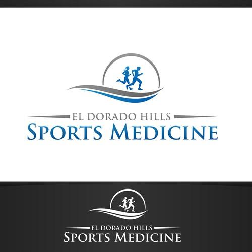 Create a clean, sophisticated logo for El Dorado Hills Sports Medicine