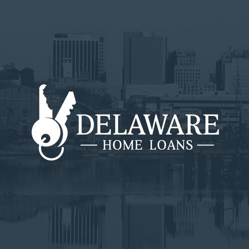 Delaware Home Loans logo concept