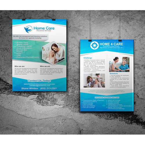 "Flyer A5 ""HOME 4 CARE"""