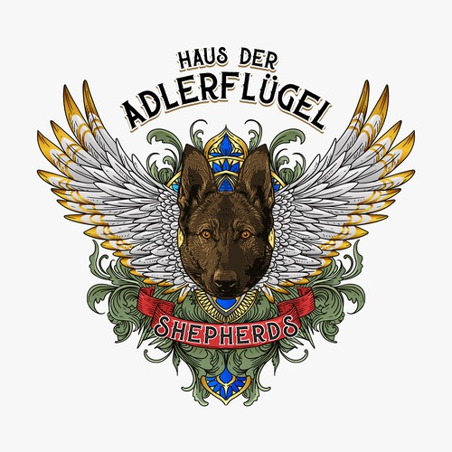 Classic logo for Haus der Adlerfluger shepherds