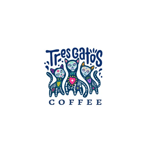 Tres Gatos Coffee Logo