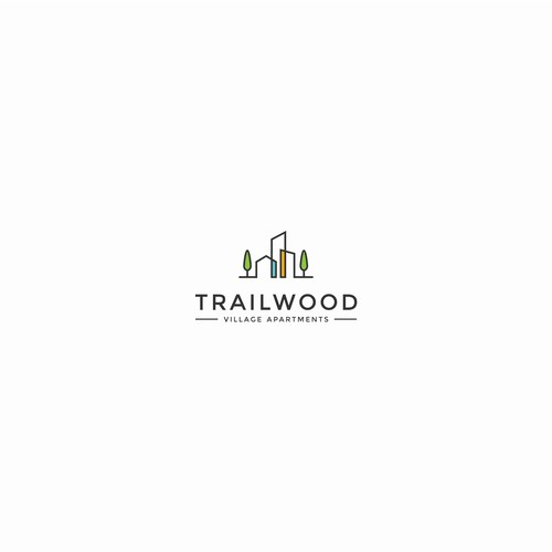 Modern and Sophisticated Logo for Trailwood Village Apartments