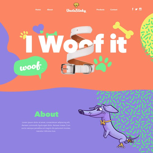 Dog accessories website design