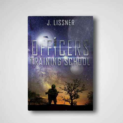 Futuristic army story book cover design