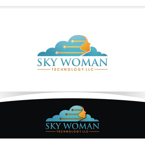 Sky Woman Technology Needs Logo for Custom Software Business