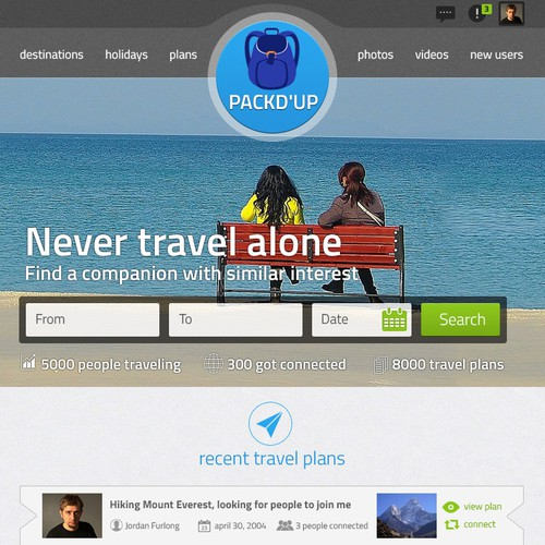 Create the coolest travel social website in the world