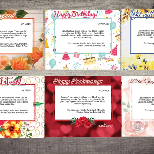 Floral Occasion Greeting Cards