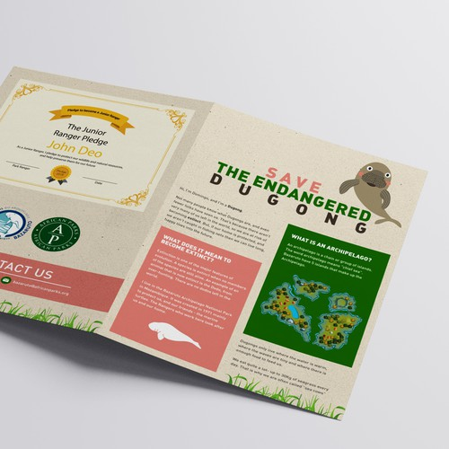 National park brochure design