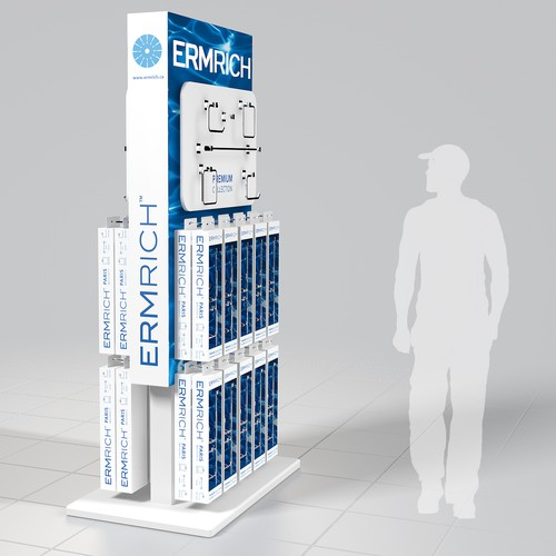 Create a Retail Point of Sale Stand for a Product Launch