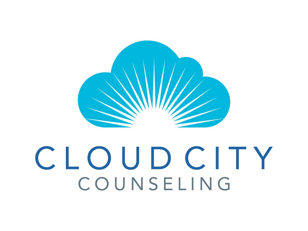 Design a hopeful logo for Cloud City Counseling, therapy for software geeks