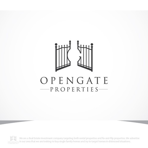 Guaranteed/Blind Contest for OPENGATE PROPERTIES! Need creative ideas for investment co.!