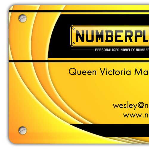 Numberplates4Fun Business card