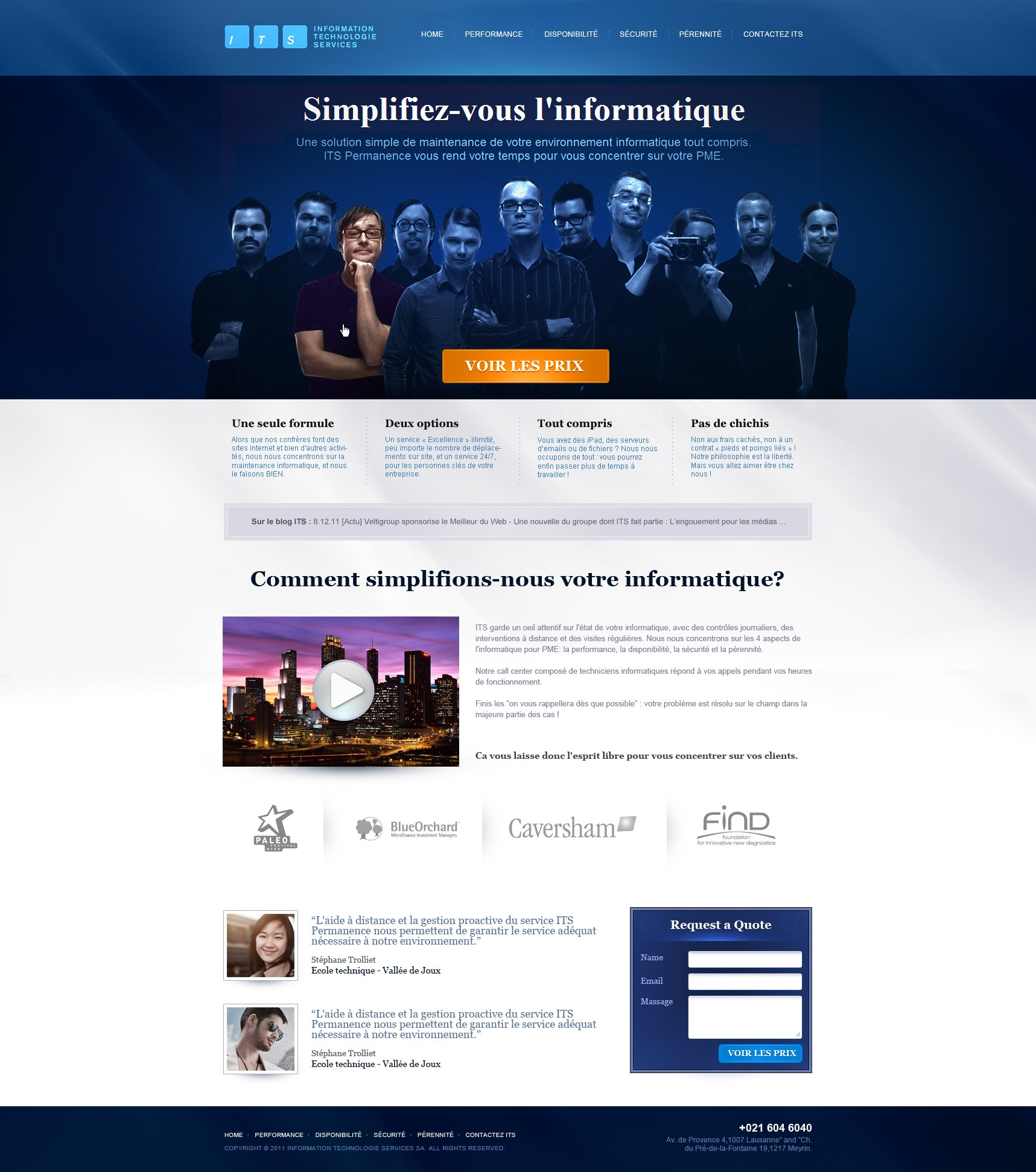 ITS Information Technologie Services SA needs a new website design