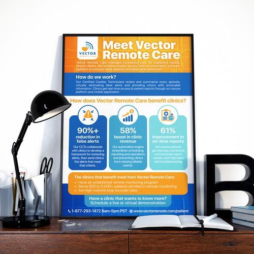 Vector Remote Care Medical Flyer