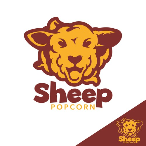 Logo concept for Sheep Popcorn