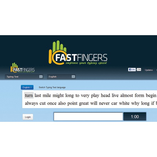 Help 10FastFingers with a new logo
