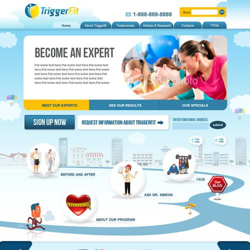 Triggerfit Website Design