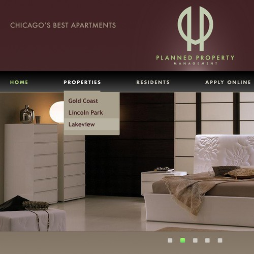 Webpage Design 4 Downtown Chicago Apartment Rental & Mgmt Co.