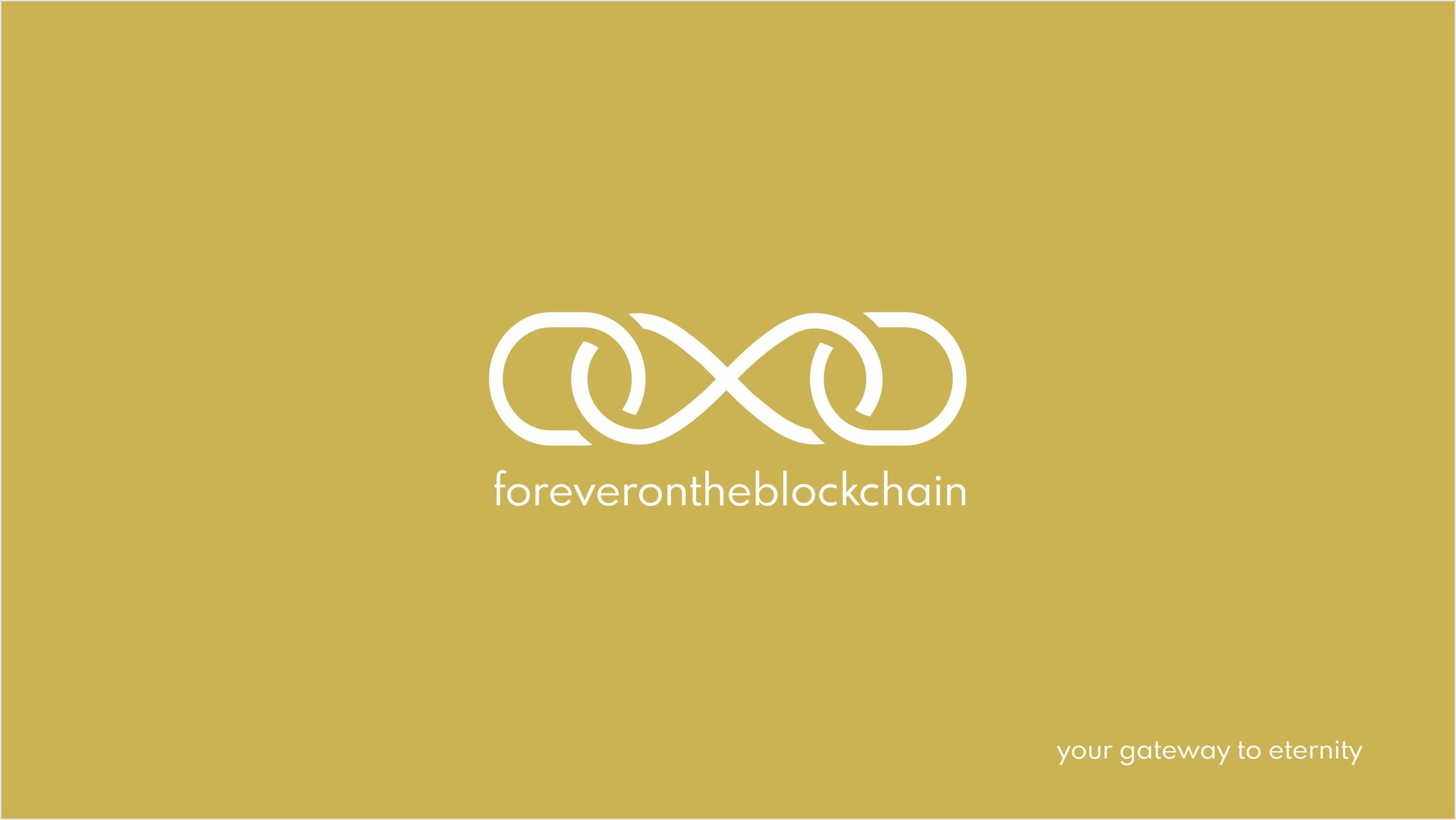 Logo for foreverontheblockchain