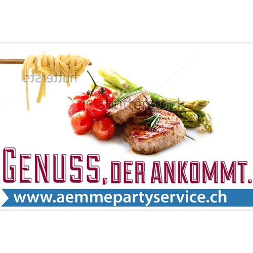 Design für Anhängerklappen Bereich Partyservice gesucht