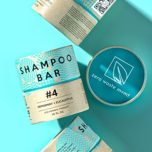 Packaging design for a zero waste shampoo bar