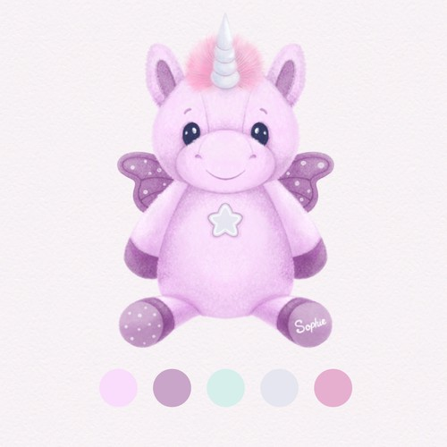 Unicorn Plush Toy Design