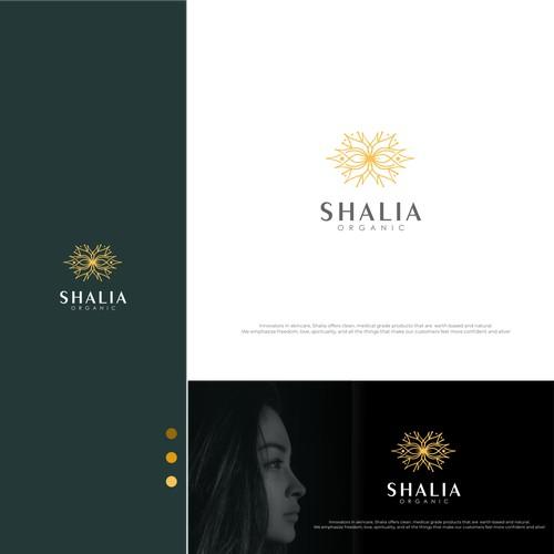 shalia organic a logo
