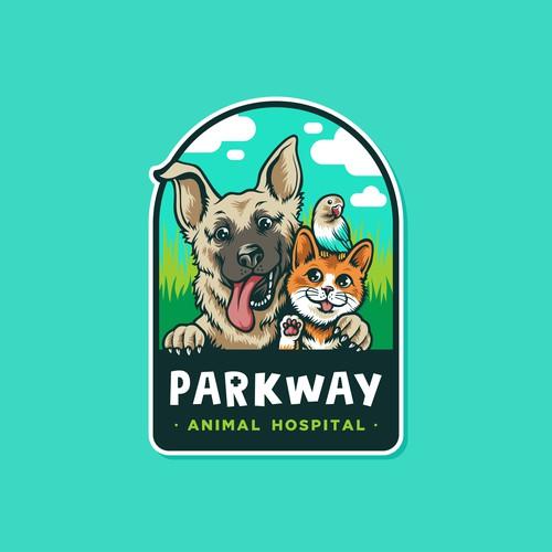 Fun Cartoony logo for Parkway Hospital