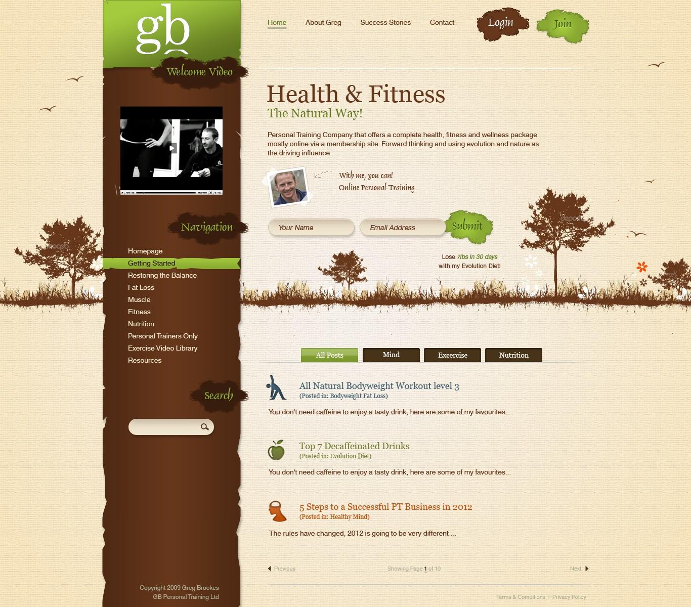 Natural, Living and Breathing website design